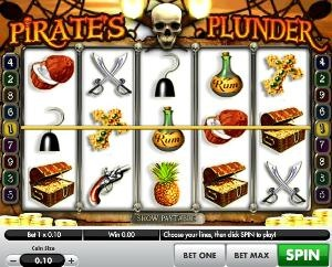 Pirates Plunder Slot machine is a 5 reel, 9 payline video slot game from Gamesys. It is loosely based on the Pirates of the Carribbean.