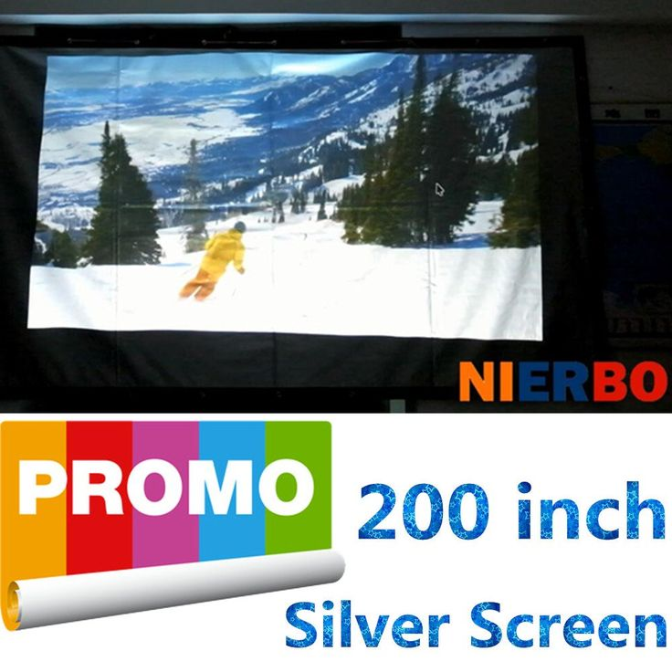Portable 3D projector Screen silver metal screen for film video can fixed screen 16:9 72-300 inch (16:9 | 200-in | 14.4x7.8 Ft). Metal Material, Front Projection 72-300 inch 16:9. ALL ship to USA with DHL need 3-8 working days !. Front and 3D Projection screen with black borders or hole. Easy installation and disassembly make it more comfortable. Can be applied to home theater movies, classroom training, conference room presentation, public display, etc.