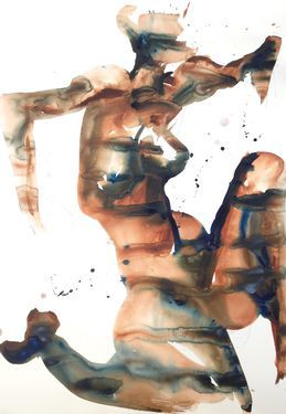 "Saatchi Art Artist Dong Li-Blackwell; Painting, ""Untitled Lady "" #art"