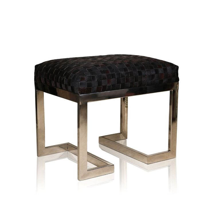 Melky Black Hair On Stool - Simple yet elegant, this classy melky black hair on stool is just perfect to lure all the attention from the onlookers. This black stool with squared pattern top is sure to win the hearts of those who appreciate the beauty in simplicity.#INVHome #LuxuryHomeDecor #InteriorDesign #RoomDecor #Decorations #Decor #INVHomeLinen #Tableware #Spa #Gifts #Furniture #LuxuryHomes #Furniture #Stools