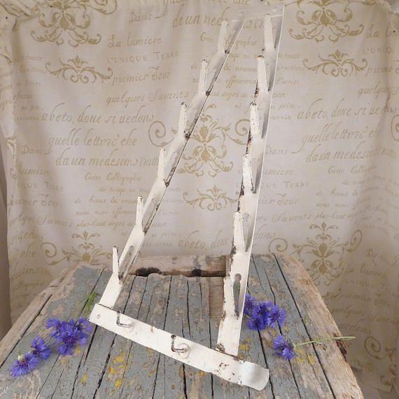 Old white hanger, hanger shabby chic, kitchen towel , hanger,