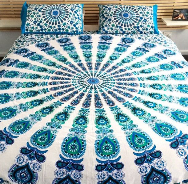 Baby Bed Canopies – Hippie Mandala Handmade Duvet Covers Queen Size – a unique product by IndianCraftPalace on DaWanda