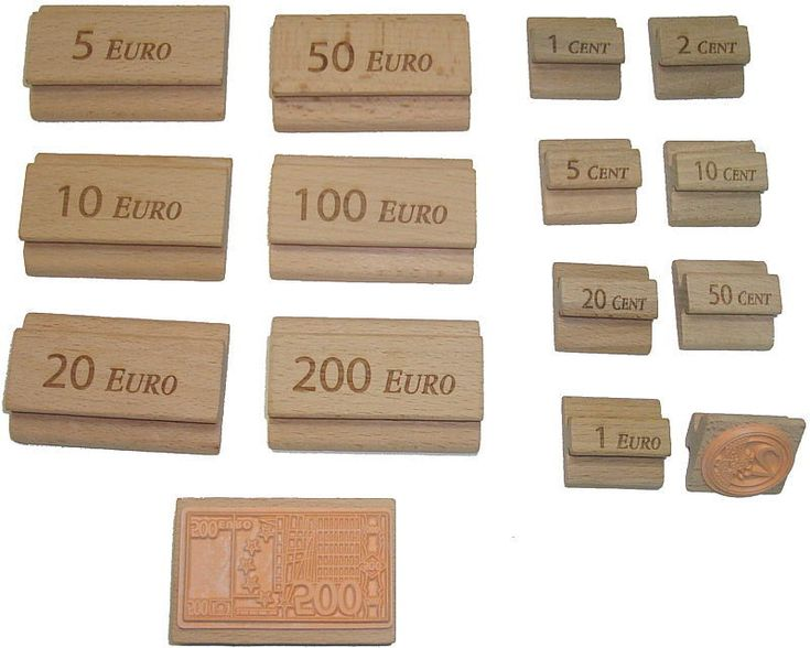 Stempel um Euro-Scheine und Münzen zu stempeln. Ideal für Montessori um Arbeitsblätter herzustellen. Gibts hier: http://www.montessori-shop.de/material/euro-stempel--scheine--618.php