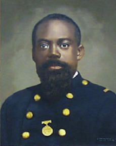 Sgt. William Harvey Carney, Company C, 54th Massachusetts Volunteer Infantry. Civil War Congressional Medal of Honor recipient. First African-American to be recognized as having performed an act of bravery that warranted the awarding of the Congressional Medal of Honor. (bio by: Warrick L. Barrett)
