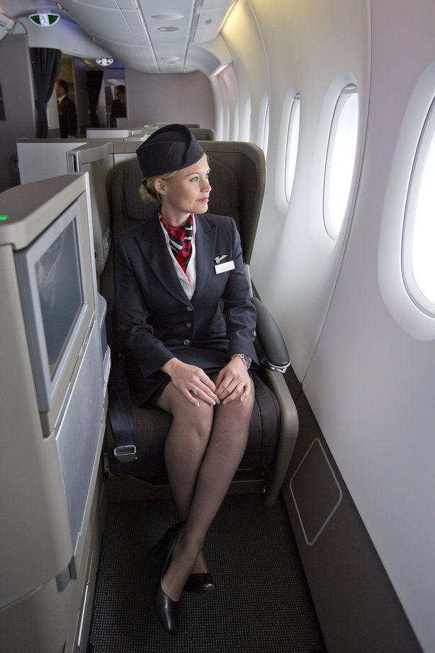 Видео в самолете стюардессы — img 11