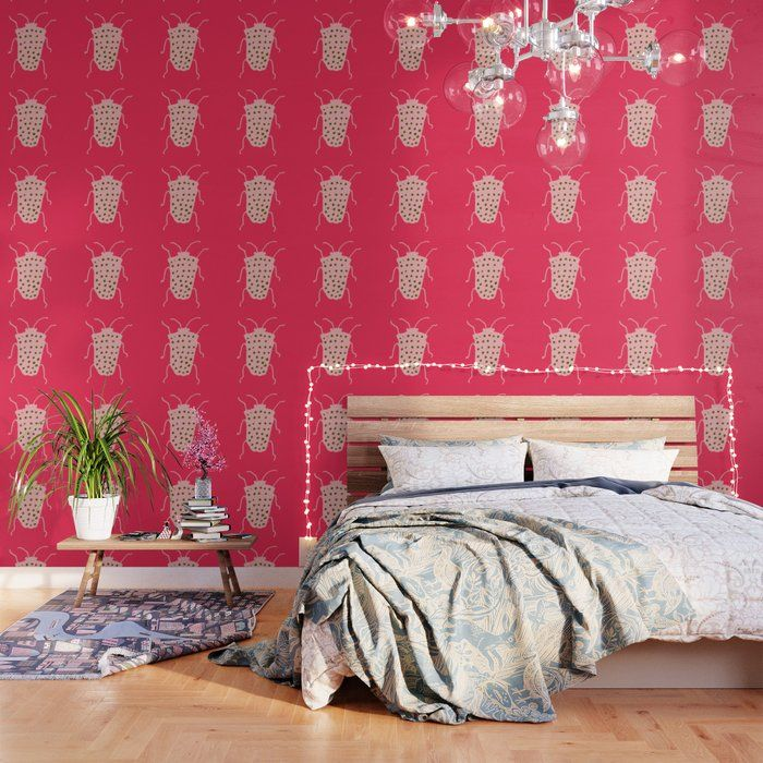 Important Make Sure To Order Enough Panels To Cover Your Wall Or Surface Size Options Below Our Peel And Stick W Hot Pink Wallpaper Pink Wallpaper Hot Pink