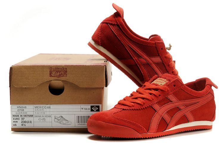 WDNWD Asics Onitsuka venta zapatos online de las mujeres Tiger Mexico 66 Rojo