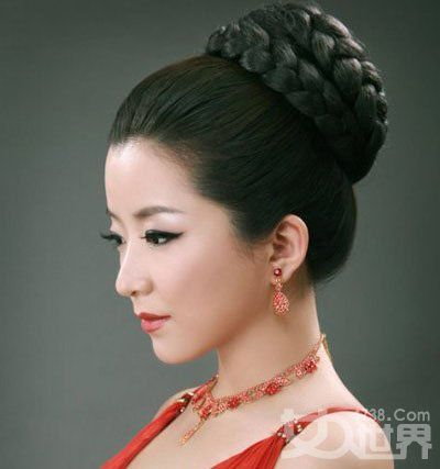 Traditional Chinese hair styles braided updo | Mulan 2013 ...