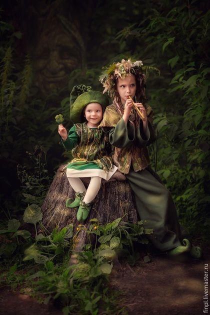 Детские карнавальные костюмы ручной работы. Ярмарка Мастеров - ручная работа. Купить Лесная фея 2. Handmade. Разноцветный, кикимора