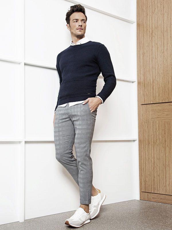 ژاکت مردانه جین دوزی یقه قزاقی