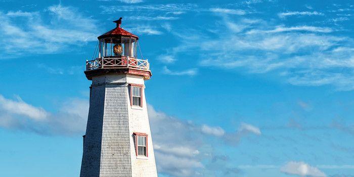 North Cape Lighthouse. Prince Edward Island, Canada.