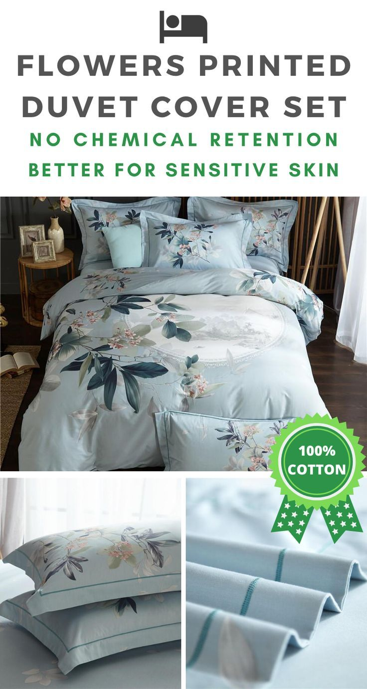 Beauty Leaves 100 Cotton Bedding Set In 2020 Cotton Bedding