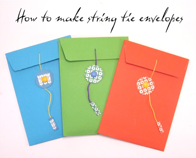 How to make a string tie envelope.