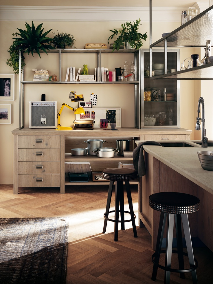 Diesel's style and know-how join forces with Scavolini's know-how to create a new-concept kitchen | Stools | #Scavolini | #Kitchens