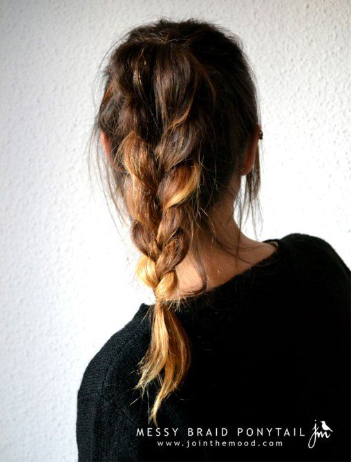 Cute and sweet braided pony tail! Treat your tresses with hair products from Walgreens.com.