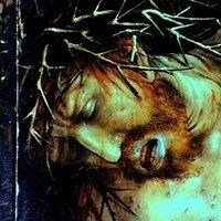 This image depicts and shows the pain Jesus went through as he was crucified on the cross.