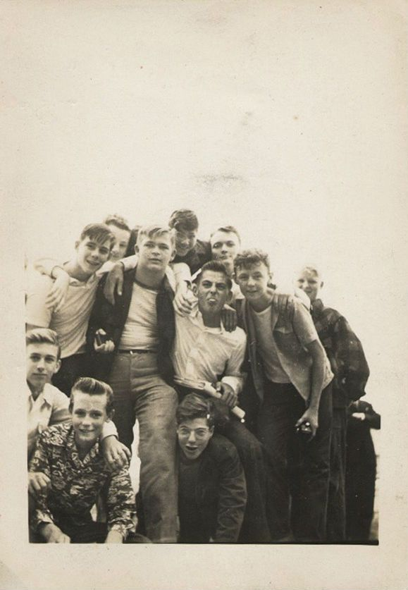 Group of teen boys, Brooklyn, New York 1950s.