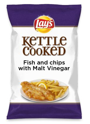 Wouldn't Fish and chips with Malt Vinegar be yummy as a chip? Lay's Do Us A Flavor is back, and the search is on for the yummiest chip idea. Create one using your favorite flavors from around the country and you could win $1 million! https://www.dousaflavor.com See Rules.