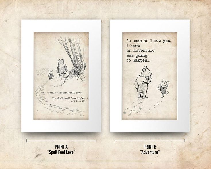 classic winnie the pooh a4 a3 framed printed quote nursery