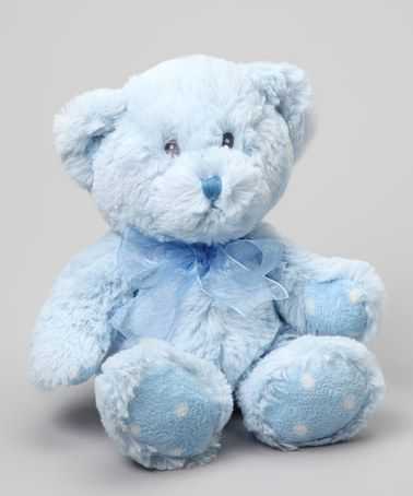 Take a look at this Blue Small Teddy Bear Plush Toy by Roman, Inc. on #zulily today!