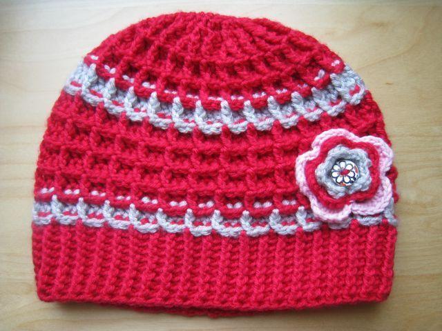 zimní kostičkovaná čepice
