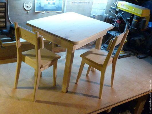 Детская ручной работы. Ярмарка Мастеров - ручная работа. Купить Мебель из дерева для детей. Handmade. Разноцветный, мебель из сосны, сосна