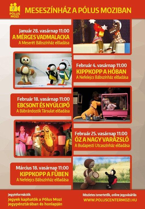 Meseszínház a Pólus Moziban – 2018. I. negyedév | Kicsi Budoár Női Magazin