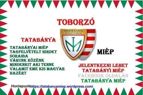 Berczi Sándor vezetésével, 3 fővel, 2016. március 15-én megalakult a Magyar Igazság és Élet Pártja tatabányai szervezete.