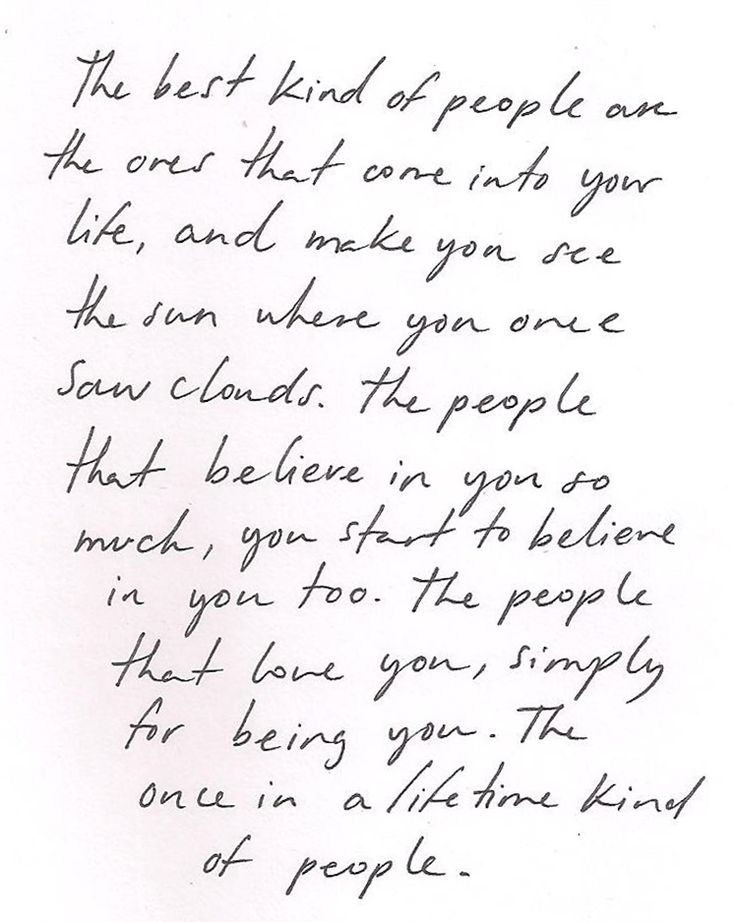 The best kind of people ...