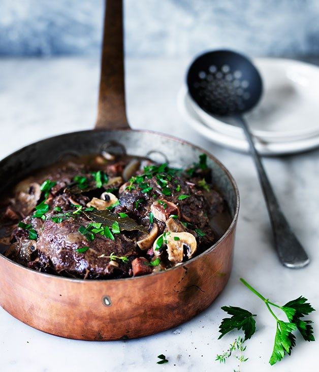 Beef cheek Bourguignon recipe :: Gourmet Traveller