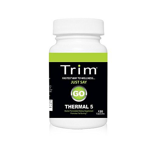 Trim Nutrition Thermal 5 with CLA, Garcinia Cambogia, Raspberry Ketones, Barberry Extract and Green Tea Extract for Increased Energy, Effective Fat Burning and Weight Loss, 120 Capsules