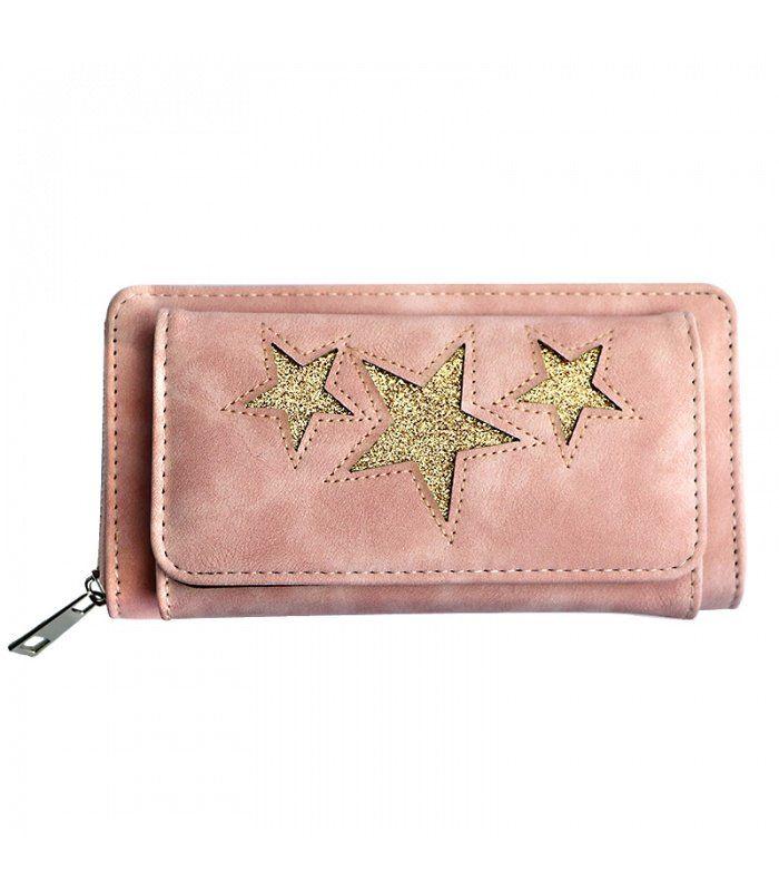 Grote portemonnee, met voorvak (ruimte voor smartphone|Bevat verschillende vakken voor pasjes en een vak met rits voor kleingeld. | Yehwang fashion en sieraden