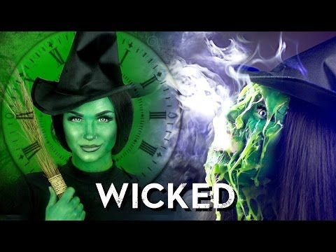 Elphaba from Wicked & Melted Wicked Witch of the West Makeup Tutorial - YouTube