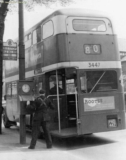 Manchester Corporation Transport Dept., Conductor clocking timecard, The number 80 went from Stevensons Square to Middleton.