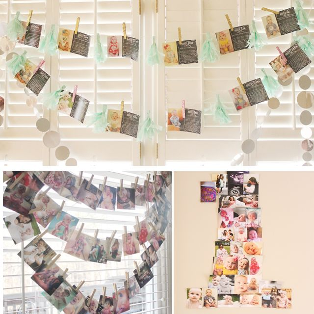 Different way to do a First Birthday Photo Display - Project Nursery