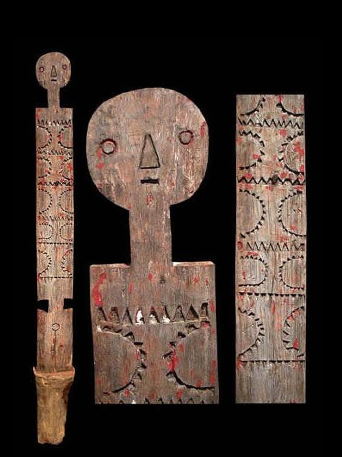 Poteau funeraire Kigango - Mijikenda Giriama - Tanzanie - Poteaux Vigango - ethnie Mijikenda Giriama