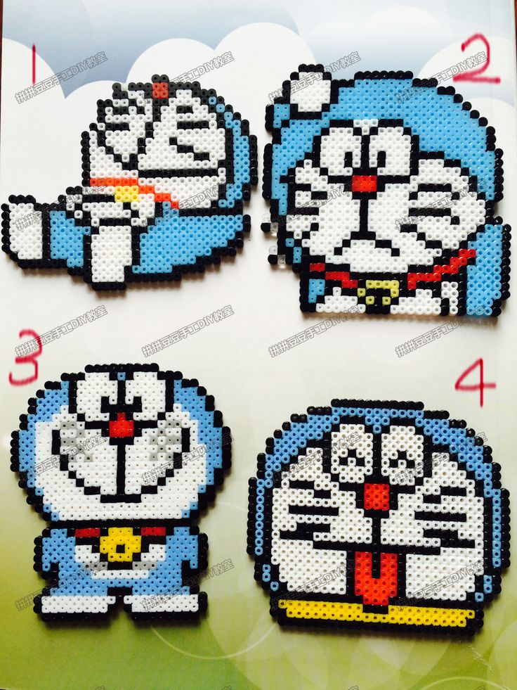 Doraemon mini perler beads
