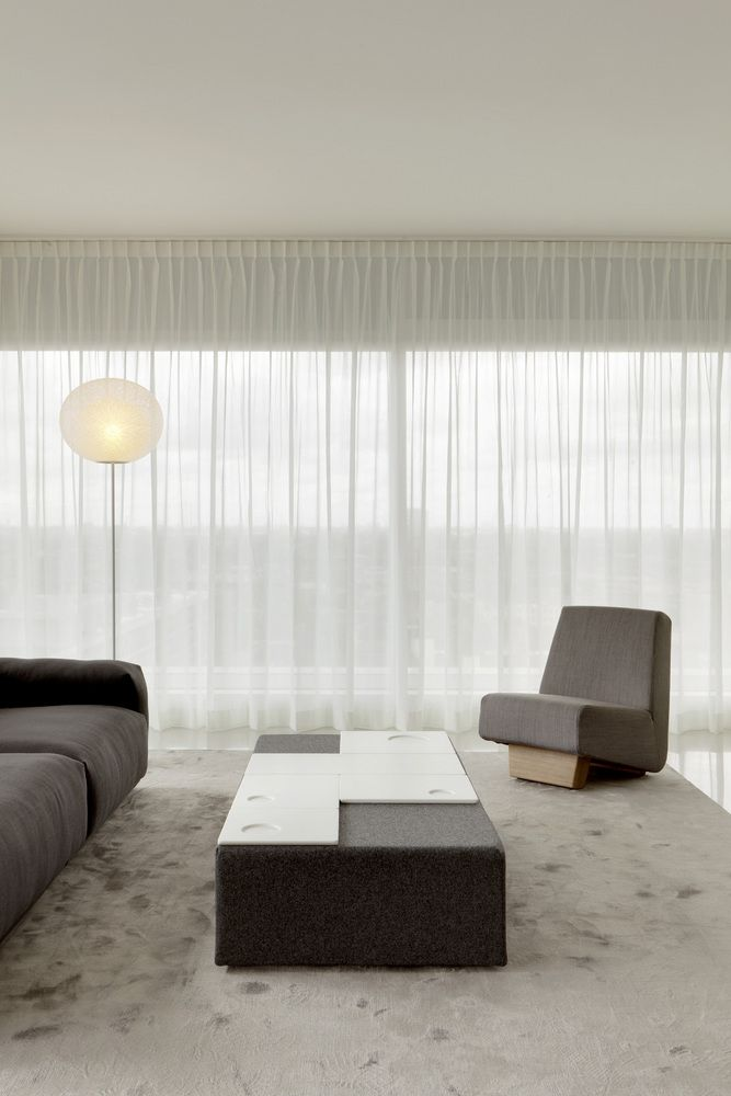 Subtle And Diffuse Light Living Room Inside The B Tower By Wiel Arets
