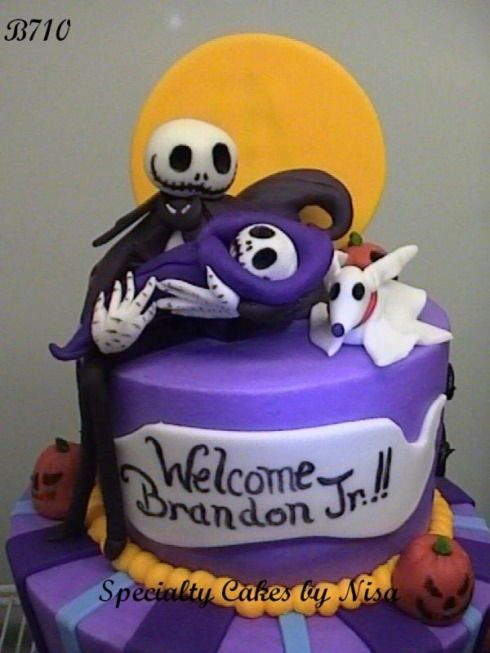 Nightmare Before Christmas Cake - Jack Holding The Baby