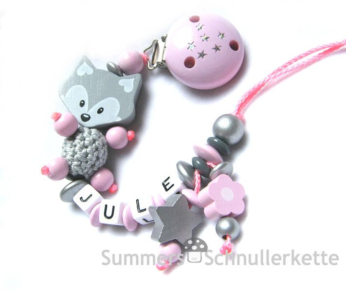Schnullerkette von Schnullerkette, Armband, Kinderwagenkette, Greifling  auf DaWanda.com