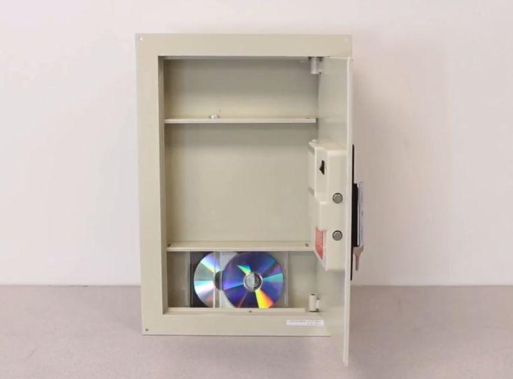 In wall gun safe mirror