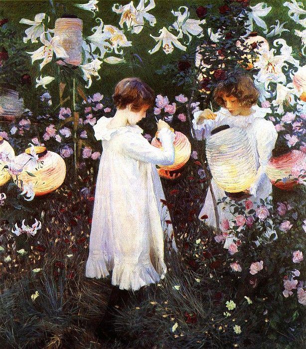 Carnation, Lily, Lily, Rose 1885-1886. Sargent, John Singer