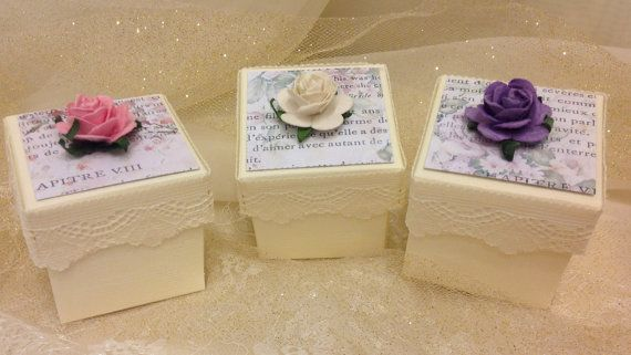 Shabby Chic French Floral  Favour Boxes by VeryVintageBoutiques, £1.40