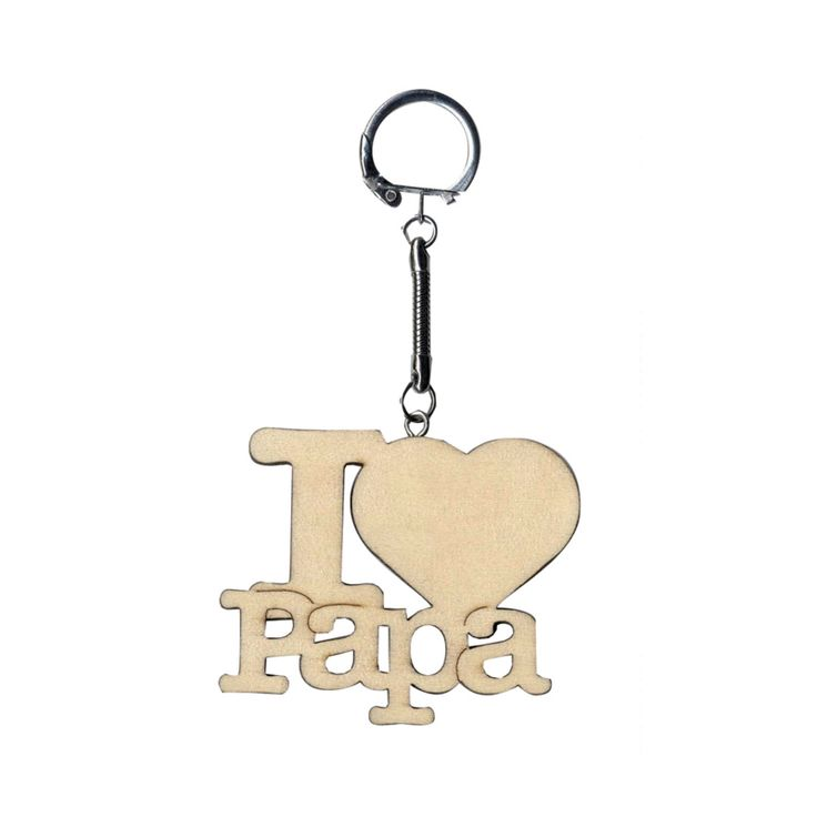 Sleutelhanger - I LOVE PAPA