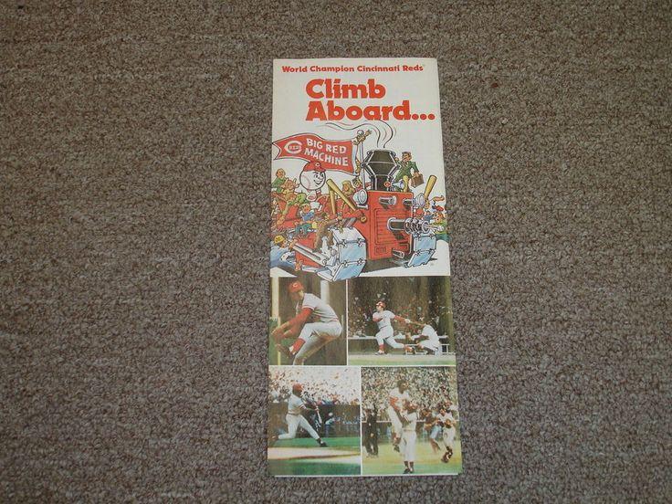 1977 Cincinnati Reds Schedule w/Seating Plan-Big Red Machine-EX/MT