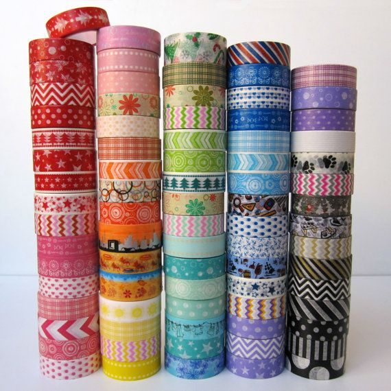 80 patterns to choose from!  Pick 3 rolls of washi tape for $7.25 (BumpOfKnowledge on Etsy)