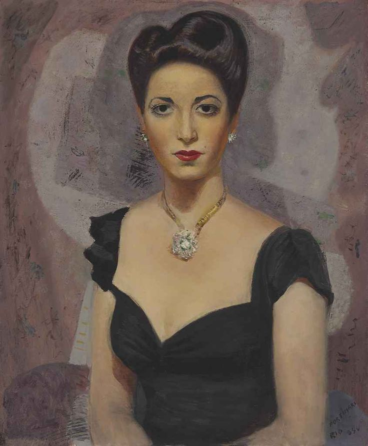 Portrait of Fina Gómez, 1944 by Candido Portinari (Brazilian 1903-1962)