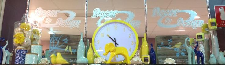 Fantastic range of Yellow and Mint decorator ideas!! #yellow #mint #clock #decorator