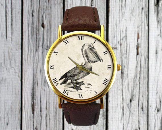 #Vintage #Pelican #Bird #Watch #Leather #Watch #Ladies #Watch