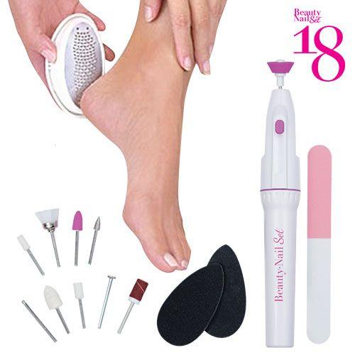 La pedicure professionale a casa tua! Con ilset pedicure Beauty Nail 18potrai prenderti cura delle tue unghie acasa come se fossi in un salone di bellezza
